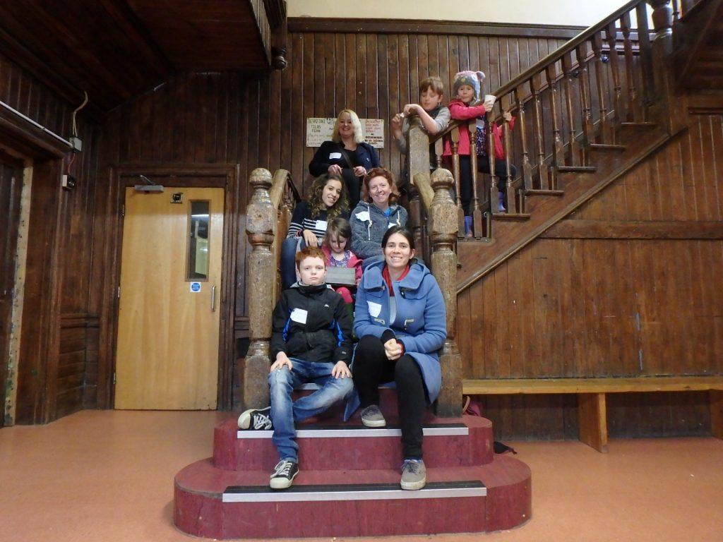 EKSS Founders on Summerhill staircase